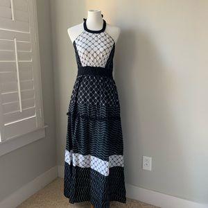 New York & Company Halter Long Dress Size Medium